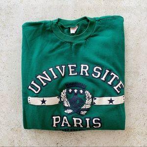 🍃 VINTAGE PARIS UNIVERSITY Sweatshirt size L